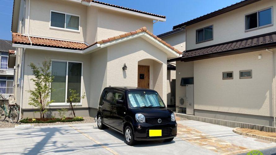 駐車スペースと植栽の施工例【新築外構 S様邸】